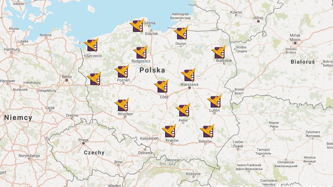 Kontakt Mapa